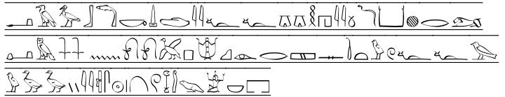 P22 Hieroglyphic™ Font Sample