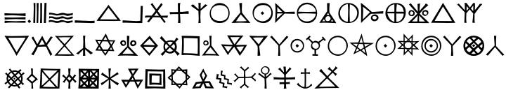 P22 Koch Signs™ Font Sample