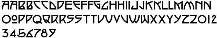 P22 Arts and Crafts™ Font Sample