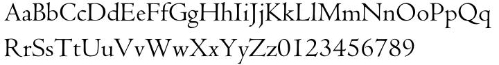 Centaur® Font Sample