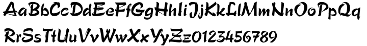 Paola™ Font Sample