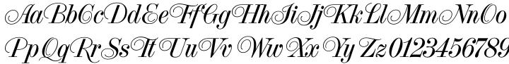 French Vanilla Font Sample
