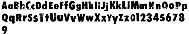Stomper Font Sample