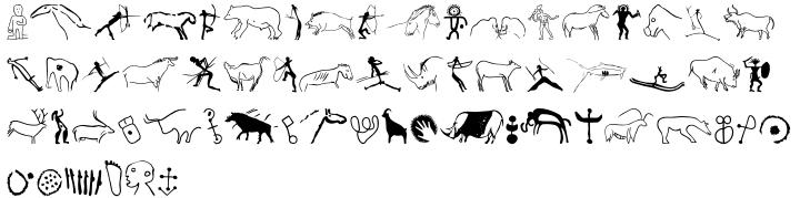 P22 Petroglyphs™ Font Sample