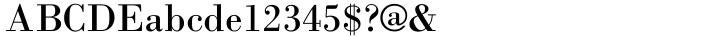 Bodoni-M Font Sample