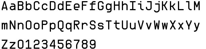 OCRK Font Sample