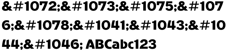 AdverGothic Font Sample