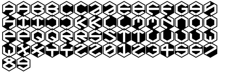 Baker Half Font Sample