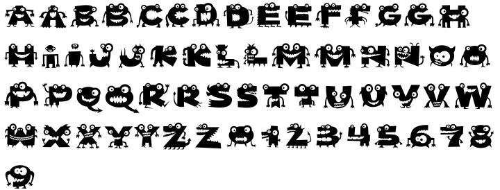 Mutaints Font Sample