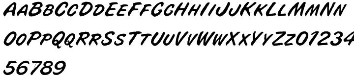 Buffalo Joe™ Font Sample