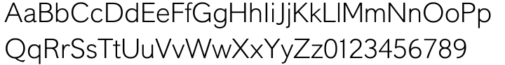 Liteweit™ Font Sample