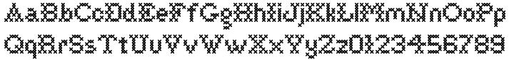 Cross Stitch Basic Font Sample