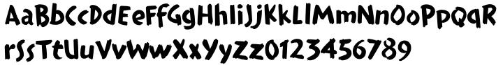 Teebrush Paint™ Font Sample