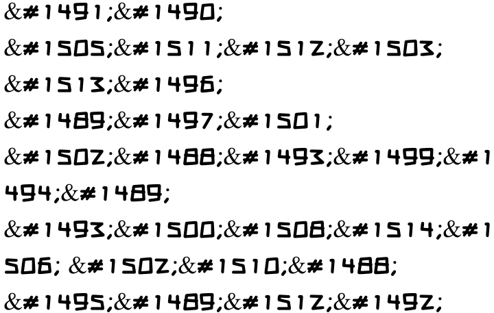 Bomba MF Font Sample