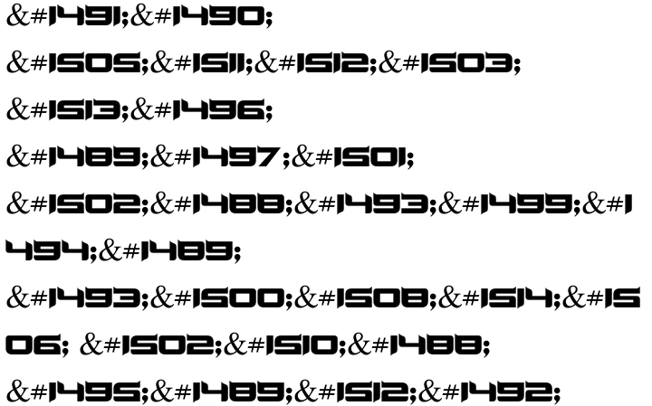 Dunya MF Font Sample