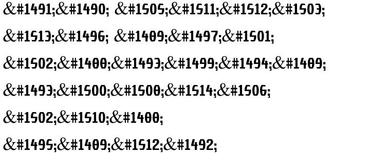 Elvis MF Font Sample