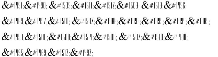 Glass MF Font Sample