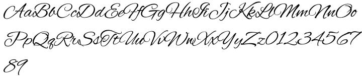 Alex Brush Font Sample