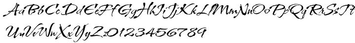 Kolker Brush Font Sample