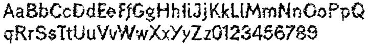 De-Generation™ Font Sample