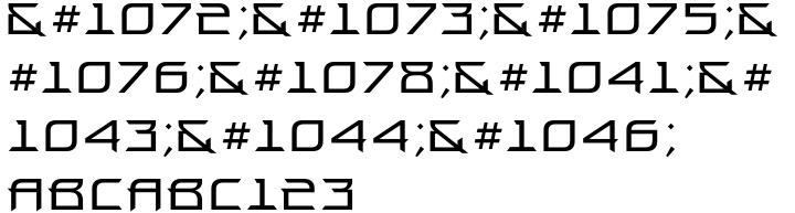 Proun Font Sample