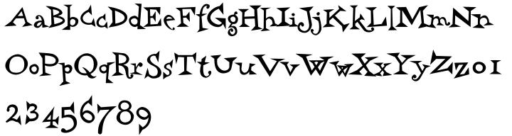 Harry Plotter Font Sample