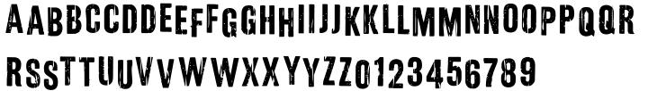 Hefty Galloon Font Sample