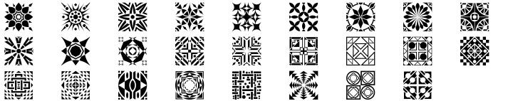 Polytype Patterns Font Sample