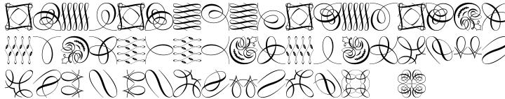 Polytype Artimus II Frames Font Sample