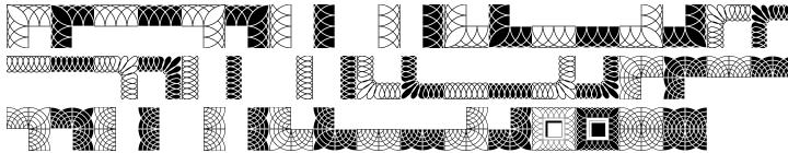 Polytype Brutus I Frames Font Sample