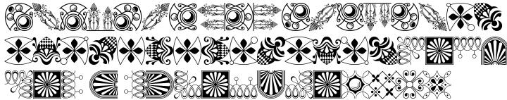 Polytype Brutus II Frames Font Sample