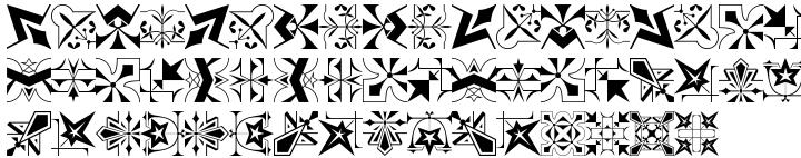 Polytype Dumas I Frames Font Sample
