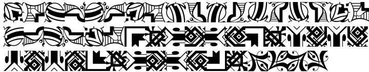 Polytype Medoc II Frames Font Sample