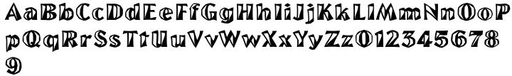 Yakima Font Sample