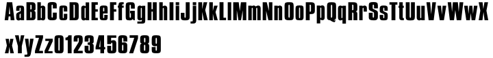 British Inserat Font Sample