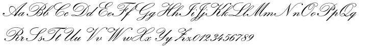 Classic Script Font Sample