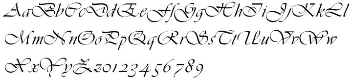 Vivaldi Font Sample