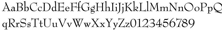 Bernhard Modern SB Font Sample