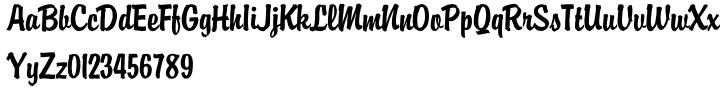 Brody SH™ Font Sample