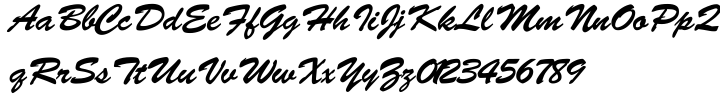 Brush Script SB™ Font Sample