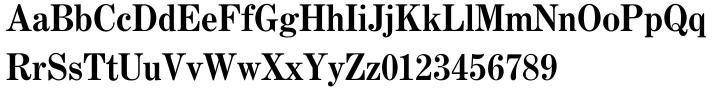 Century No. 1 SB™ Font Sample