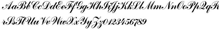 Commercial Script SH™ Font Sample