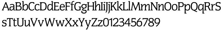 Congress SH™ Font Sample
