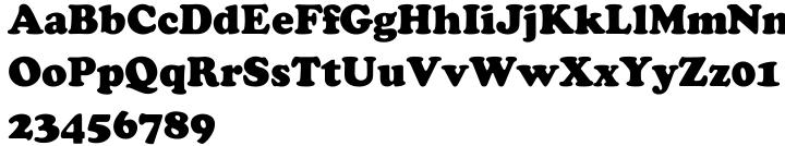 Cooper Black SB™ Font Sample