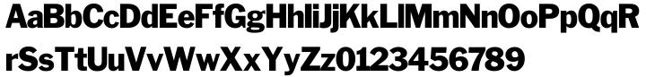 Franklin Gothic SH™ Font Sample