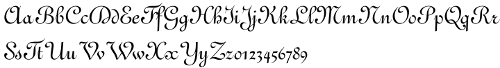 French 111 Font Sample