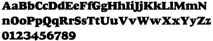 Goudy Heavyface SH™ Font Sample