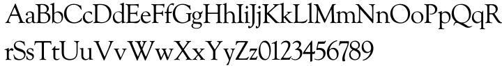 Goudy Old Style SH™ Font Sample