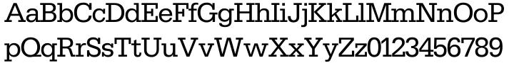 Serifa® SH Font Sample