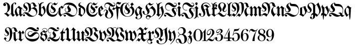 Walbaum Fraktur SH™ Font Sample